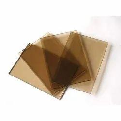 Plain Rectangle Brown Tinted Glass