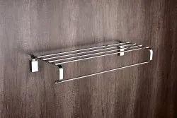 Brass Chrome Towel Rack, Size: 24 Inch