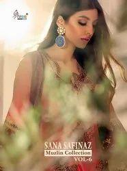 Shree Fab Sana Safinaz Muzlin Collection Vol 6 Jam Cotton Printed Pakistani Dress Material Catalog