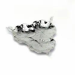 Three Sided Handle Silver Platter (Medium Size)