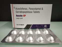 Aceclofenac 100, Paracetamol 325 Serratiopeptidase 15