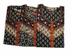 Silk Casual Wear Designer Ladies Stiched Kurti, Wash Care: Machine wash