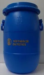Blue HDPE 1H2-Y40 Plastic Drum For Chemical Storage, Capacity: 40 Litre