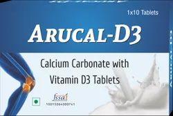 Arucal - D3 , Calcium Carbonate with Vitamin D 3 Tablets, Prescription, Atulya Medilink Pvt Ltd
