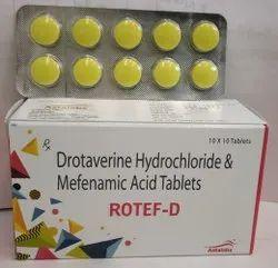 Drotaverine Hydrochloride & Mefenamic Acid Tab( Rotaf-D)