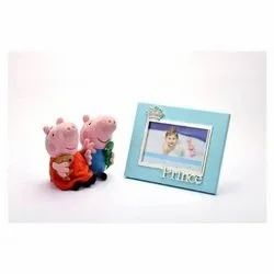 Blue Crown Silver-Plated Photo Frame With Prince