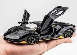 Black SC1023 Lamborghini Metal Diecast Model Car Toy