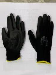 Pu Palm Fit Black Gloves