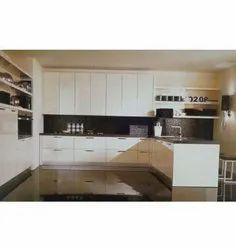 Modern High Gloss Laminate Modular Kitchen, Work Provided: Wood Work & Furniture