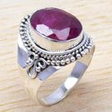 Ruby Gemstone 925 Sterling Silver Jewelry Ring