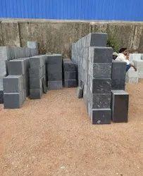 Polished Black 16.5 Mm Granite Tile, For Flooring