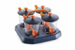 Grecy Pickle Jar, Masala Storage Container Lids and Tray Holder for Kitchen-Grecy Pickle Jar