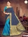 Present Best Design Silk Saree With Good Looking Blouse