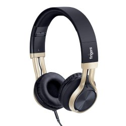 Black Foldable Fingers Showstopper H5 Wired Headphone, 147 G