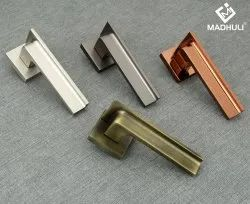 Madhuli Zinc Geometric Engineered Mortice Lever Handle For Entry Doors-67, For Office