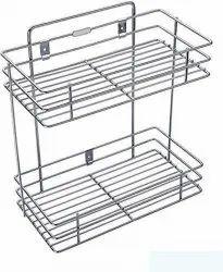 Wall Mount 2 Layer Kitchen Shelf & Bathroom Shelves and Racks & Storage Shelf Kitchen Rack