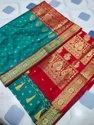 Wedding Wear Embroidered Printed Mohini Silk Saree, With Blouse Piece