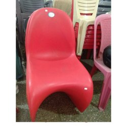 Modern Plastic Red Designer Chair, For Home, Back Style: Tight Back