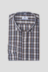 Men Brown Madras Checks Shirt
