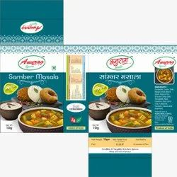 Anurag Spices 10g Samber Masala, Packaging Type: Packet