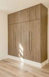 Candor Furniture Brown Wall Wooden Almirah, Number Of Doors: 4