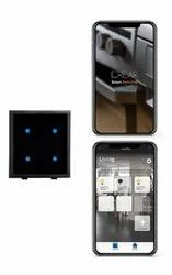 Capacitive White Wifi Modular Touch Switches Mobile App Operated With Indicator, 2M