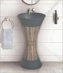 Cura Ceramic D-05 Designer One Piece Basin, For Bathroom