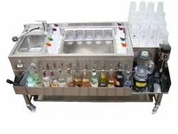Stainless Steel Cocktail Bar Station
