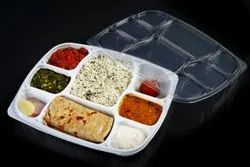 8 Compartment Plastic Meal Tray With Lid