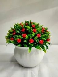 Red(Flower) Home Decoration Red Artificial Potted Flower