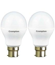Chrome Round 200W Crompton LED Bulb