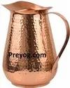 Preyog.com Water Jug Preyog Copper Pitcher 2 Liters/70 Oz, For Home, Size: 8x8x5 In
