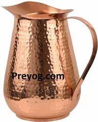 Preyog.com Water Jug Preyog Copper Pitcher 2 Liters/70 Oz, For Home, Size: 8x8x5 In