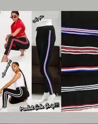 Black High Waist Ladies Designer Leggings, Size: Medium, Slim Fit