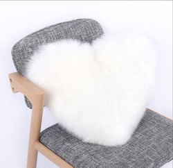 Soft And Handmade White Heart Cushion Cover