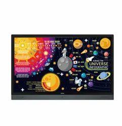 Black BenQ Interactive Flat Panel Display, Model Name/Number: RP6501K, Size/Dimension: 1521.1 X 967.1 X 136.1 Mm