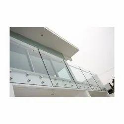 Panel Balcony Glass Railing, For Home