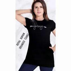ROYAL HUMAN Half Sleeve Ladies Fancy Printed T Shirts