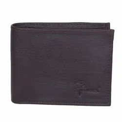 Hawai Solid Brown Non Leather Men Wallet (3 Card Slots, 2 Photo ID Window)
