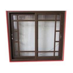 Burhani Metal Aluminium Double Sliding Aluminum Window, Size/Dimension: 4 X 4 Feet