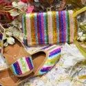 Multicolor Designer Jutti With Matching Clutch
