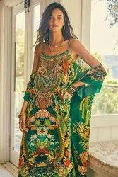 Digital Print Kaftan Dress