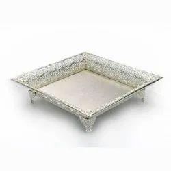 Square Cutwork Silver Salver