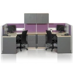Wooden U Shape Modular Office Furniture
