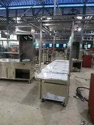 Stainless Steel Pantry Kitchen Equipment's, Trolley, Table