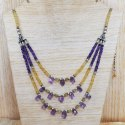 925 Sterling Silver Multi Gemstones Beads Necklace SJWN-78