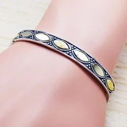 925 Sterling Silver Jewelry Royal Silver and Brass Bangle SJWB-109