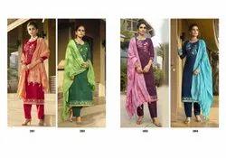 Festive Mix Pure Jam Silk Cotton Embroidery Work Salwar Suit
