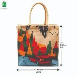 Juteberry Printed Jute Beach Bags