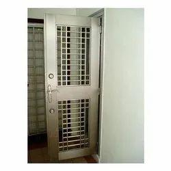 Brown Iron Mild Steel Single Door